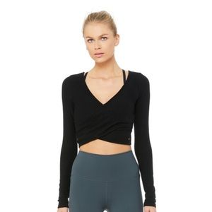 Alo Amelia Long Sleeve Crop Yoga Top NWT